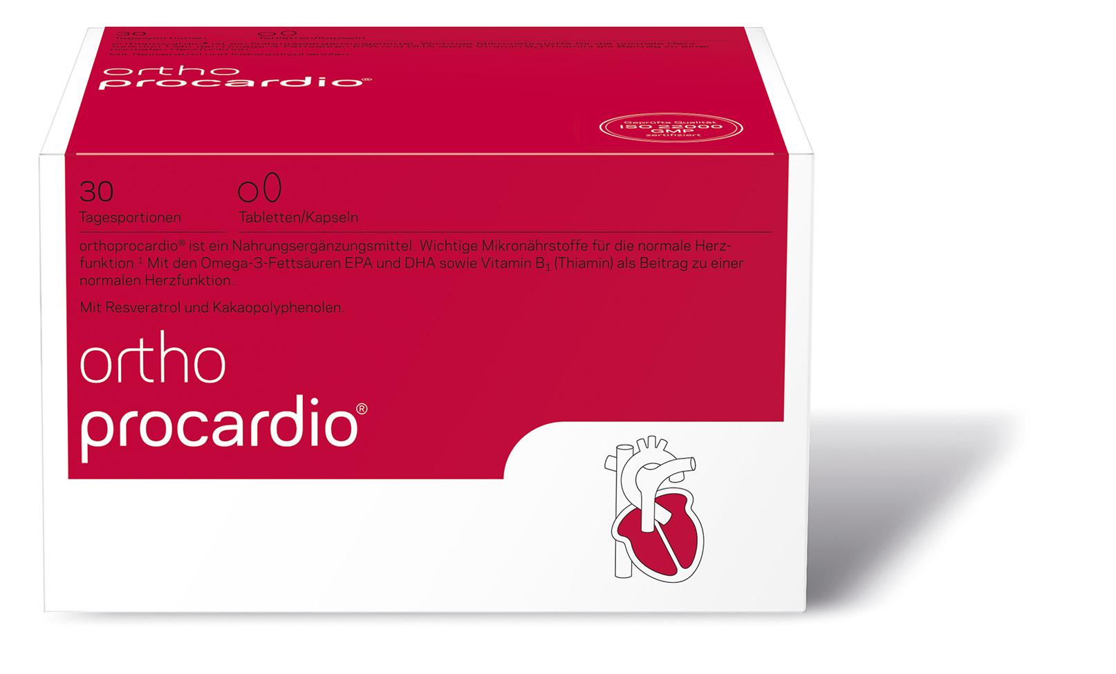 Orthoprocardio mit wichtigen Mikronährstoffen für die normale ...